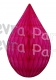 5 Inch Cerise Rain Drop Ornament Decoration (12 pcs)