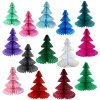 12 Inch Honeycomb Tissue Paper Tree - Solid (12 pcs) ALL COLORS
