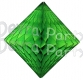 Lime Green Hanging Diamond Decoration (12 pcs)
