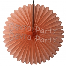 27 Inch Peach Tissue Paper Deluxe Fan (12 pcs)
