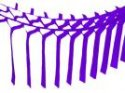 Purple Streamer Garland Decoration (12 pcs)