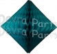 Teal Hanging Diamond Decoration (12 pcs)