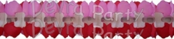 12 Foot Valentine Cross Garland - Red White Pink (12 pcs)