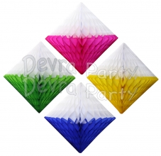 Two-Tone Hanging Diamond Decoration (12 pcs)