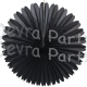 13 Inch Fan Decorations Black (12 Pieces)
