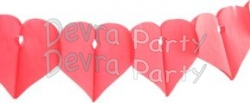 12 Foot Tissue Paper Red Heart Garland (12 pcs)