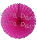 13 Inch Fan Decorations Cerise (12 PCS)