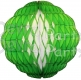 8 Inch Puff Ball Light Green and White (12 pcs)