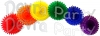 18 Inch Rainbow Party Decorations (6 fans)