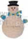 23 Inch Hanging Snowman Tissue Paper Decoration (6 pcs)