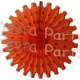 Orange 18 Inch Fan Decoration (12 pcs)