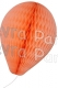 11 Inch Peach Paper Balloon Decoration (12 pieces)