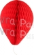 11 Inch Red Paper Balloon Decoration (12 pieces)