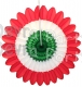 Red White Green Tissue Paper Honeycomb Fanburst (12 pcs)