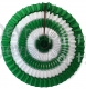 16 Inch Tissue Paper Striped Fan Dark Green and White (12 pcs)