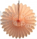 Peach Fanburst Decoration - Vintage Peach (12 pcs)