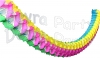 Multi Rainbow 12 Foot Oval Garland Decoration (12 pieces)