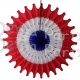 Red White and Blue 18 Inch Fan Decoration (12 pcs)