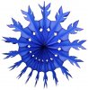 15 Inch Dark Blue Tissue Paper Snowflake Decoration (12 pcs)