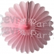 Tissue Paper Fanburst Decoration Pink (12 pcs)