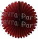 13 Inch Fan Decorations Burgundy (12 PCS)