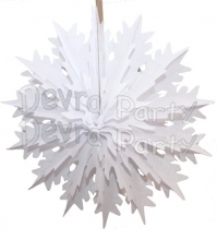 19 Inch Tissue Paper Snowflake White (12 Pieces)