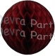Maroon (Dyed Burgundy) Tissue Paper Ball (12 pcs)