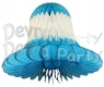 Turquoise White Bell Decoration (12 Pieces)