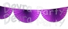 Purple 10 Foot Bunting Fan Garland (12 pcs)