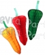 Chili Peppers 15 Inch Honeycomb Tissue Paper Decoration (12 pcs)