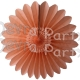 Peach Fanburst Decoration - Classic Pastel (12 pcs)
