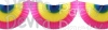 Multi Colored 10 Foot Bunting Fan Garland (12 pcs)