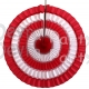 16 Inch Tissue Paper Striped Fan Red White (12 pcs)