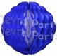 14 Inch Puff Ball Dark Blue and White (12 pcs)