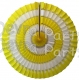 16 Inch Tissue Paper Striped Fan Yellow and White (12 pcs)