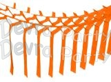 Orange Streamer Garland Decoration (12 pcs)