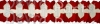 12 Foot Cross Garland Decoration - Red & White (12 pcs)