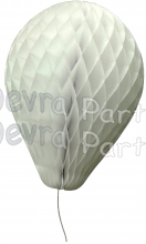 11 Inch White Paper Balloon Decoration (12 pieces)