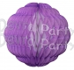 14 Inch Puff Ball Lilac and White (12 pcs)
