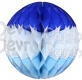 Winter Blue and White Honeycomb Ball (12 pcs)