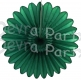 Dark Green Honeycomb Fanburst (12 pieces)
