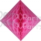 Dusty rose Hanging Diamond Decoration (12 pcs)