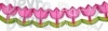 12 Foot Tissue Paper Tulip Garland (6 pcs)