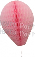 11 Inch Pink Paper Balloon Decoration (12 pieces)