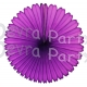 13 Inch Purple Fan Decorations (12 PCS)