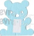 12 Foot Tissue Paper Teddy Bear Garland (6 pcs)