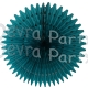 21 Inch Tissue Fan Teal (12 pcs)