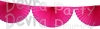Cerise 10 Foot Bunting Fan Garland (12 pcs)