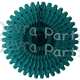 26 Inch Tissue Fan Teal (12 pcs)