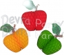 Honeycomb Paper Apple Decoration, 14 inch (12 pcs)